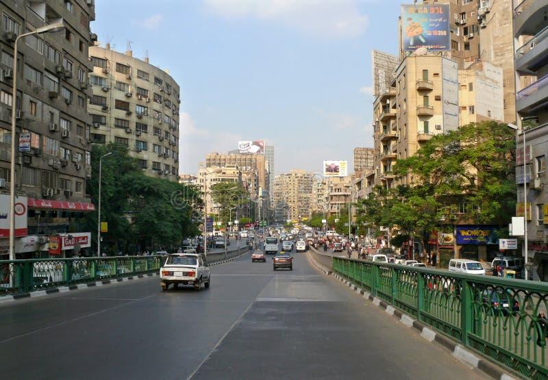EL CAIRO, EGIPTO - 9 DE NOVIEMBRE DE 2008: Centro de ciudad de El Cairo. fotos de archivo libres de regalías