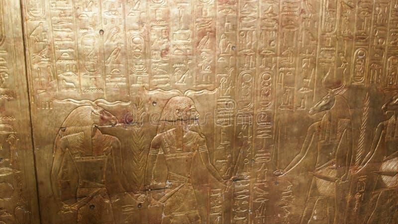 EL CAIRO, EGIPTO SEPTIEMBRE, 26, 2016 capillas del entierro del tutankhamun del pharoah en El Cairo fotografía de archivo libre de regalías