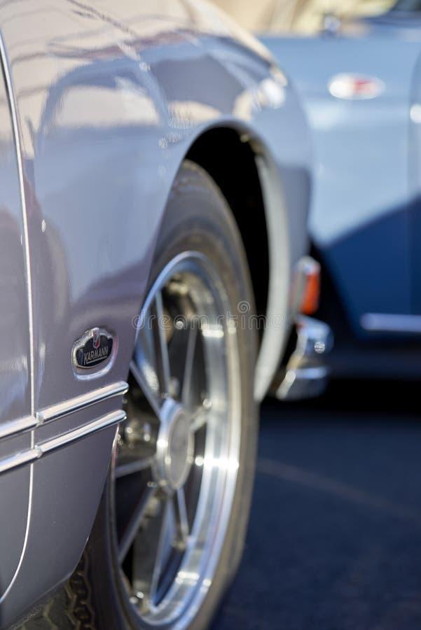 El Cajon, CA/USA - 14-ое сентября 2016: Круиз Cajon классический выставка автомобиля держат еженедельные апрель - октябрь южной К стоковые фотографии rf