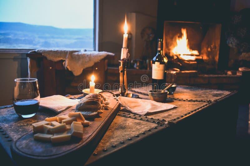 EL CALAFATE, ARGENTYNA: Romantyczny gość restauracji zdjęcia stock