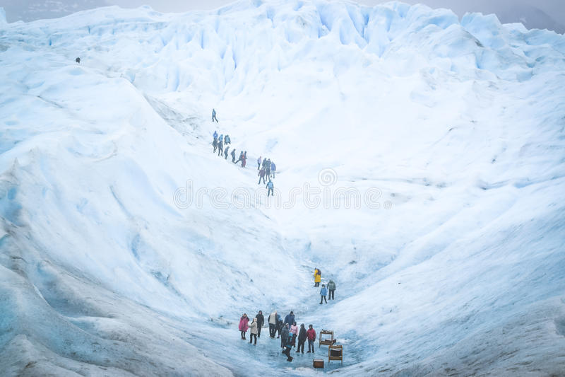 EL CALAFATE, LA ARGENTINA: Glaciar de Perito Moreno, EL Calafate, la Argentina 2015 imagenes de archivo