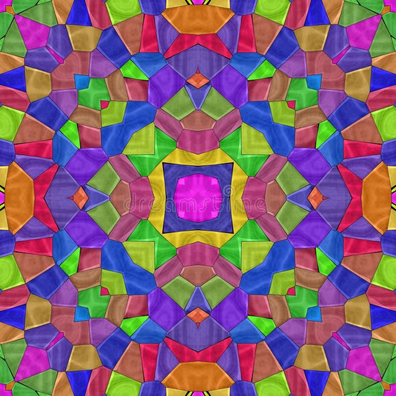 El caleidoscopio abstracto muy colorido, textura inconsútil con muchos colorea ilustración del vector