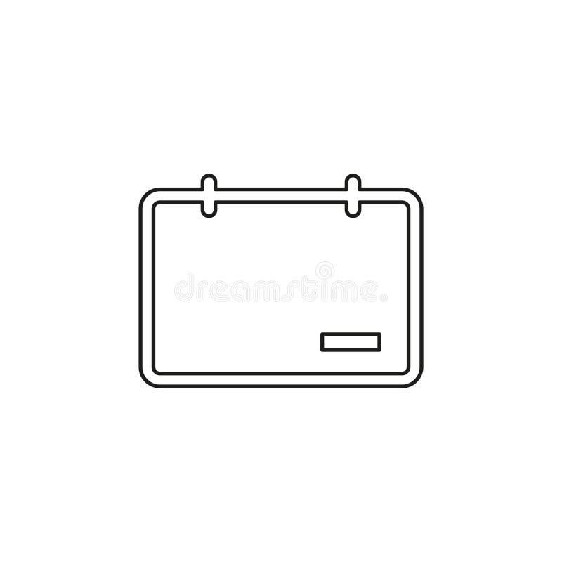 El calendario con quita el icono de la muestra, d?a libre illustration