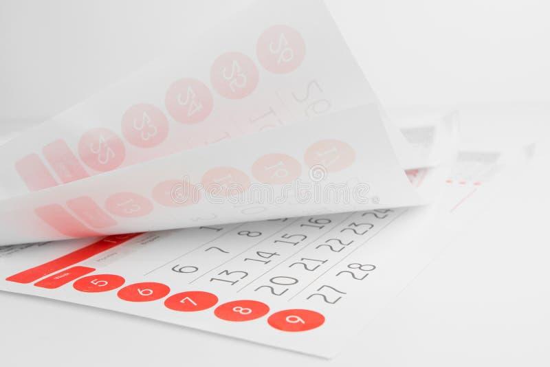 El calendario cubre el primer imagen de archivo libre de regalías