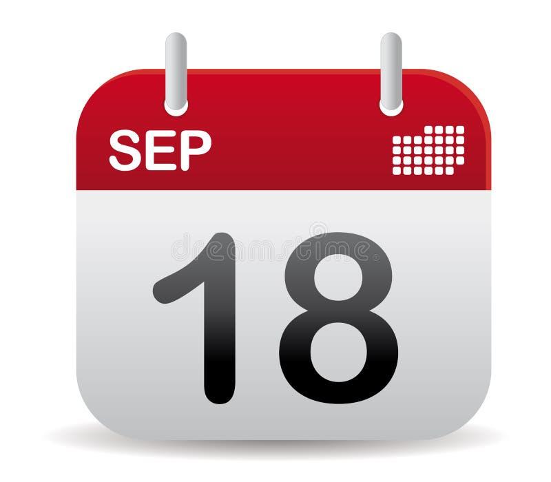El calendario de sept se levanta stock de ilustración