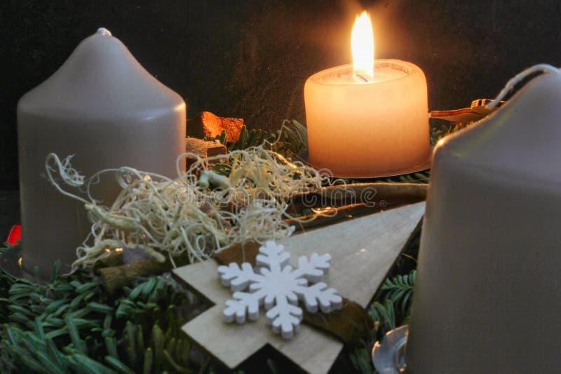 El calendario del advenimiento muestra los días hasta la Navidad fotografía de archivo libre de regalías