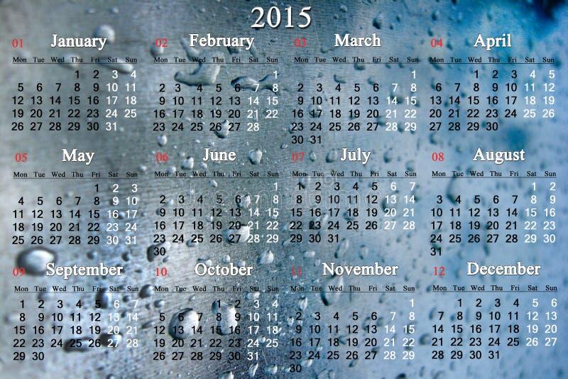 Download El Calendario Por 2015 Años En El Agua Cae Foto de archivo - Imagen de diciembre, oficina: 44855562
