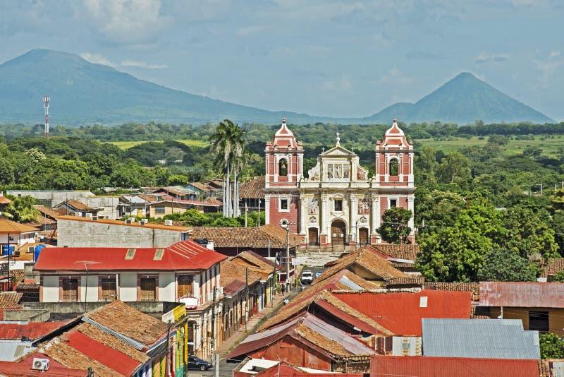 El Calvario Church in Leon, Nicaragua royalty free stock photo