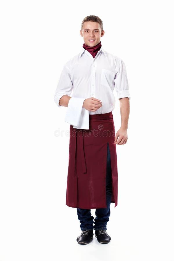 El camarero joven fotografía de archivo