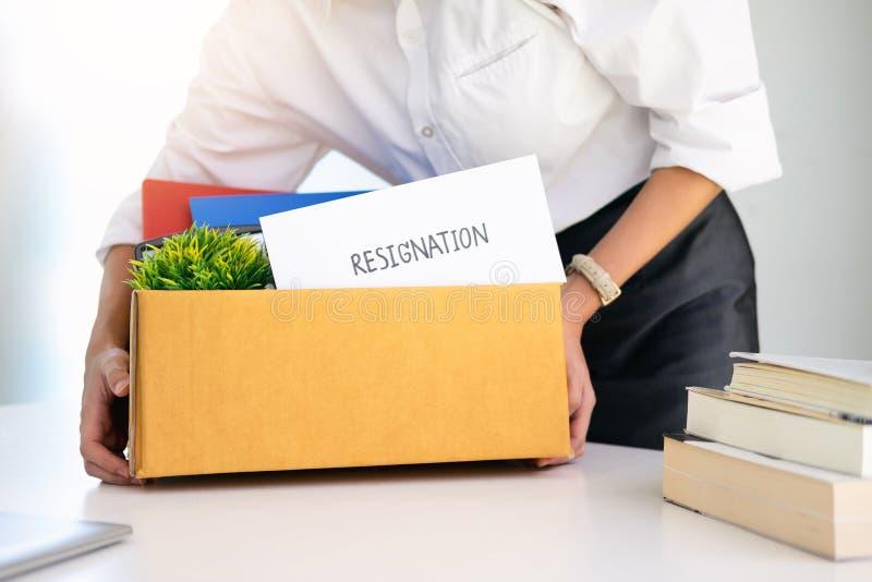 El cambio del negocio del trabajo, desempleo, dimitió foto de archivo