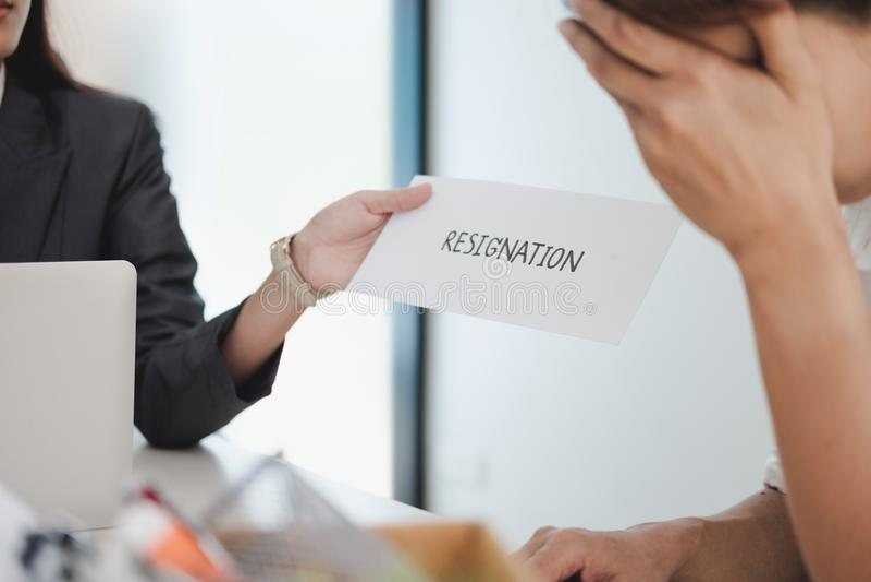 El cambio del negocio del trabajo, desempleo, dimitió concepto imagen de archivo libre de regalías