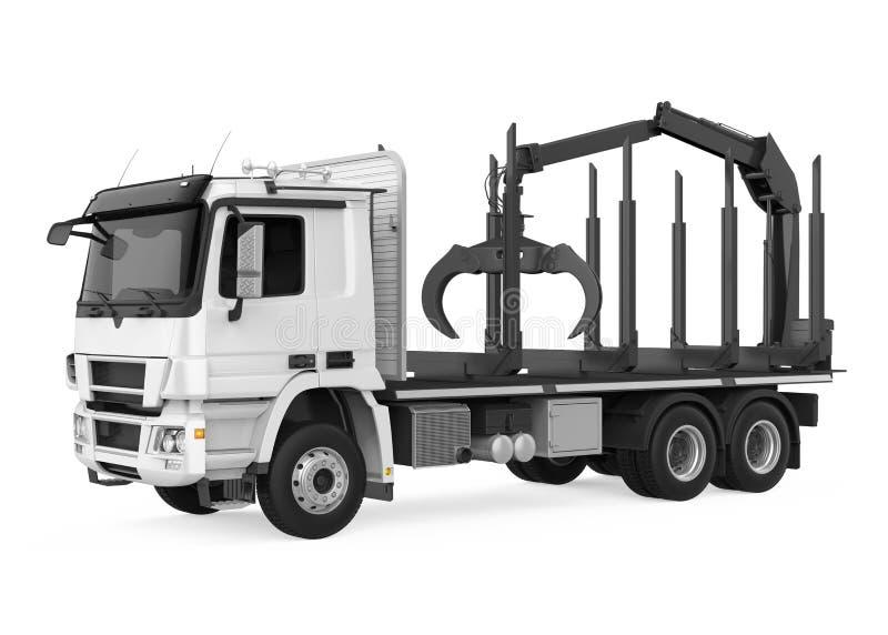 El camión de registración de la madera aisló stock de ilustración