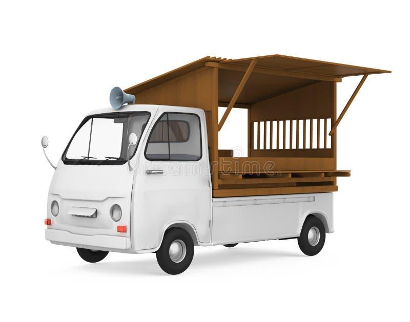 El camión japonés de la comida aisló ilustración del vector