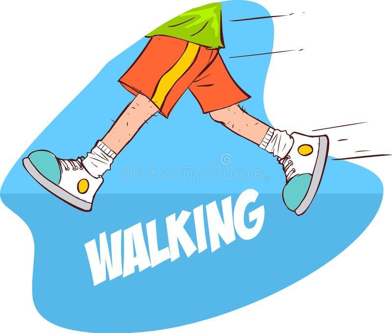 El caminar stock de ilustración