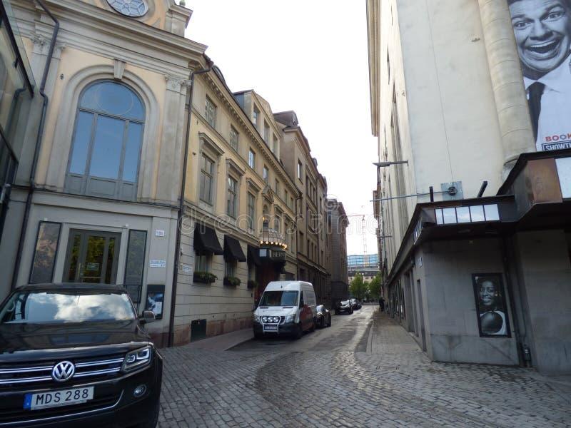El caminar alrededor de Estocolmo foto de archivo