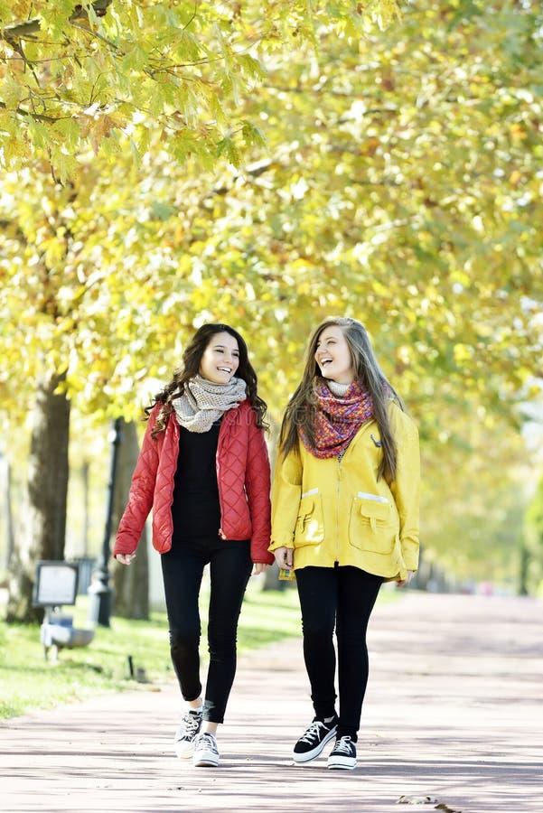 El caminar de la mujer joven foto de archivo