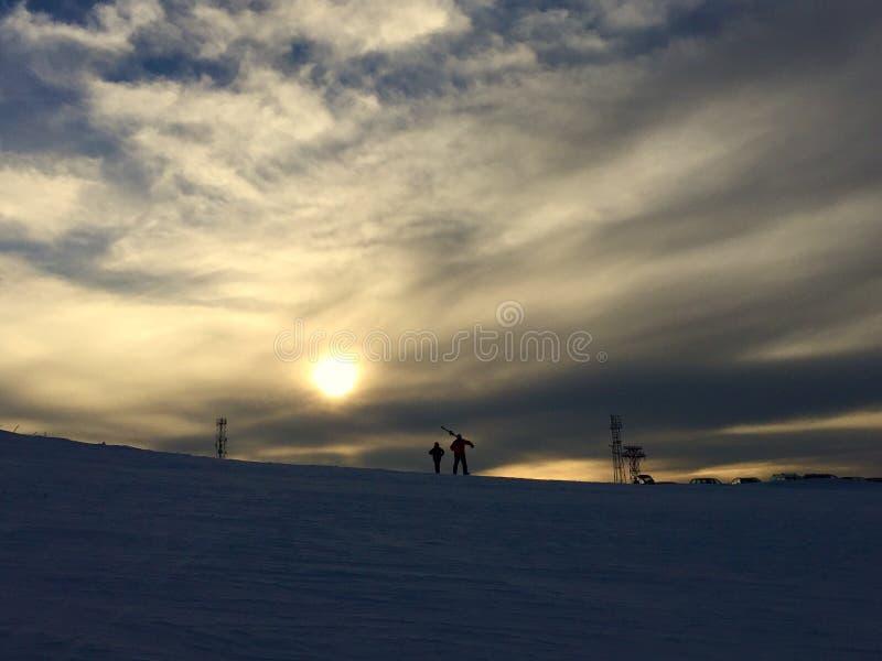El caminar de la nieve imagen de archivo