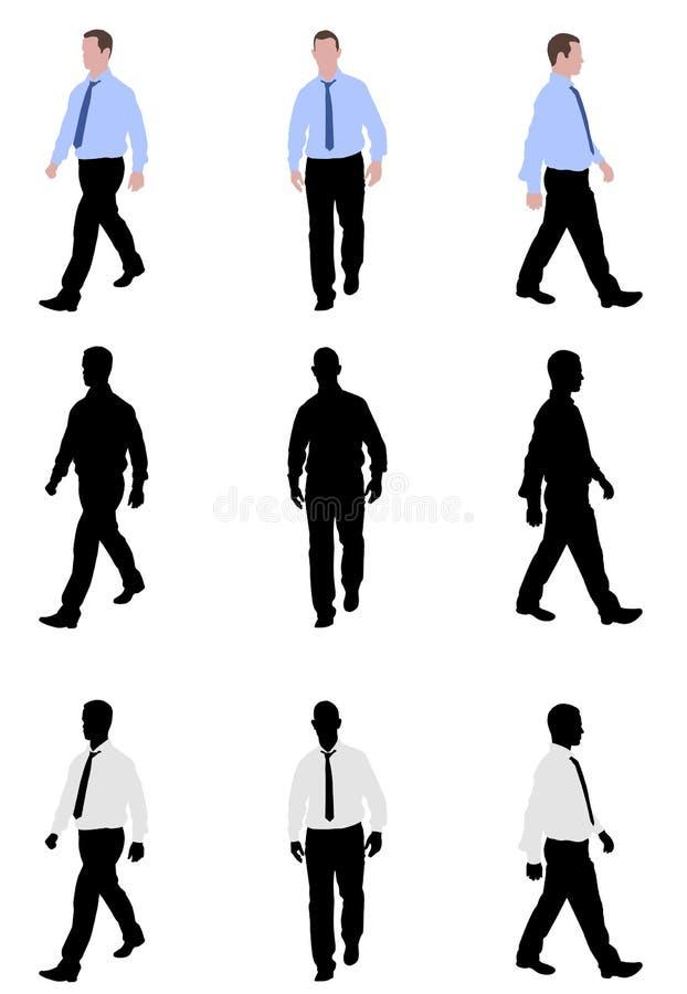 El caminar del hombre ilustración del vector