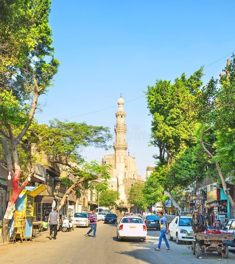El caminar en El Cairo fotos de archivo libres de regalías