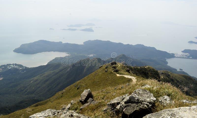 El caminar en el pico de Lantau fotografía de archivo libre de regalías