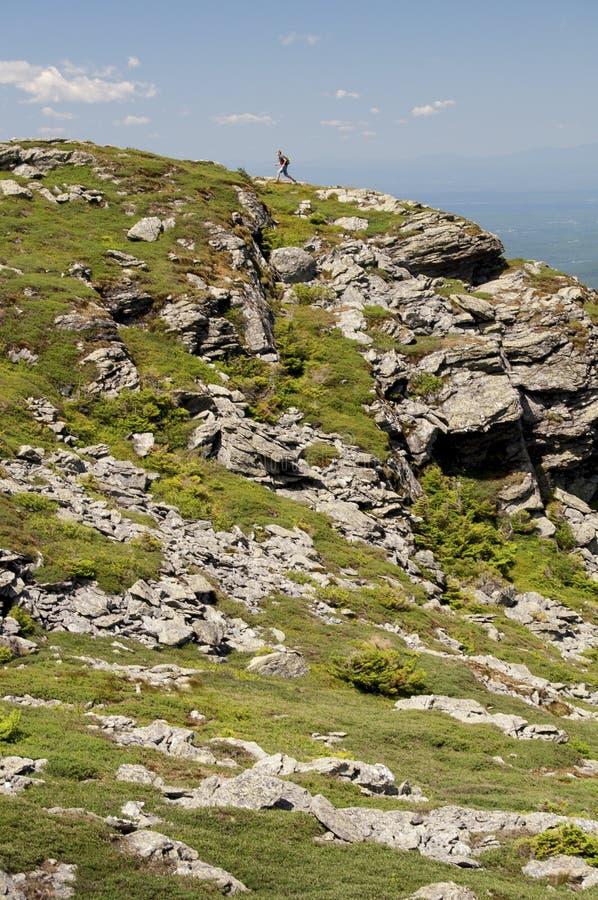 El caminar encima del Mt mansfield imágenes de archivo libres de regalías