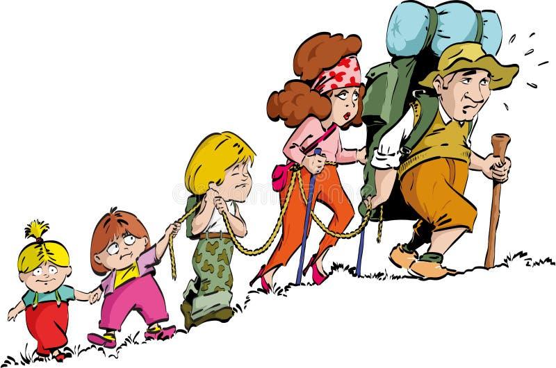 El caminar - familia stock de ilustración