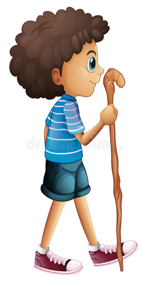 El caminar joven del muchacho stock de ilustración