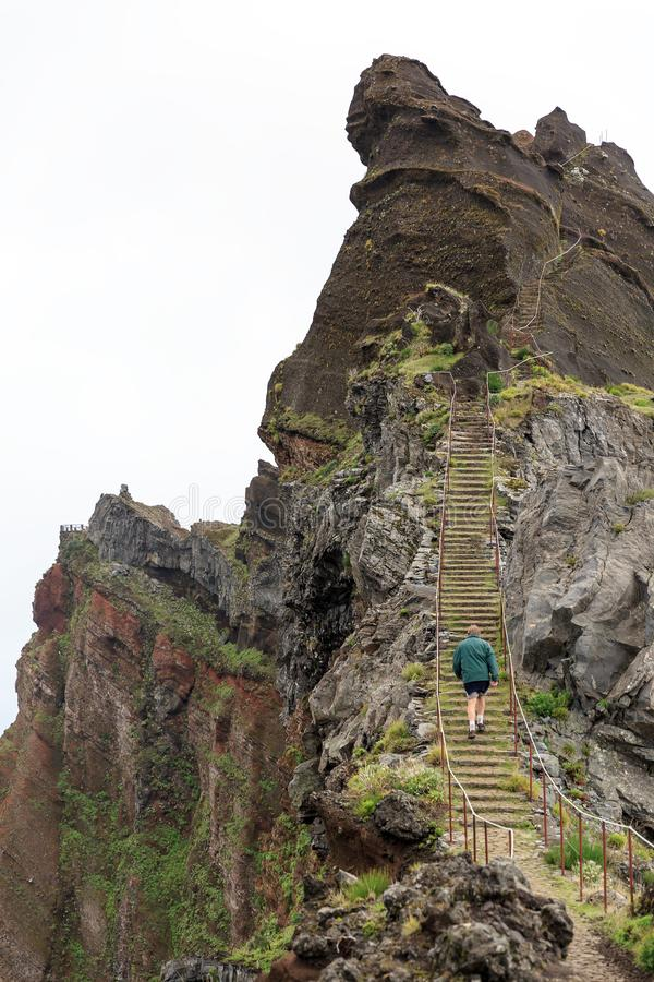 El caminar a la Madeira superior imagen de archivo libre de regalías