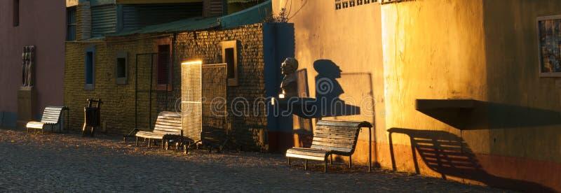 El Caminito. In the area of La Boca in Buenos Aires, Argentina royalty free stock photo