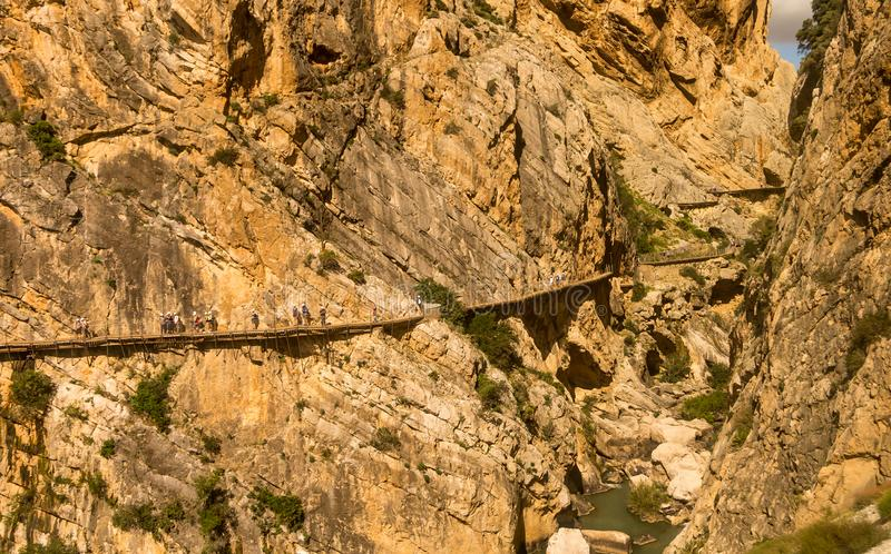 EL Caminito del Rey, Andalucia, Espanha foto de stock royalty free