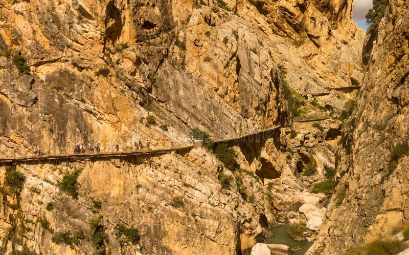 El Caminito Del Rey, Andalucia, Hiszpania zdjęcie royalty free