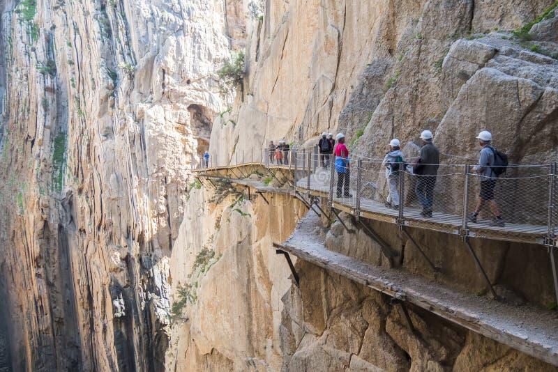 'El Caminito del Rey' (il Little Path di re), la maggior parte del pericolo del mondo immagini stock