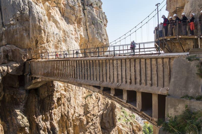 'El Caminito del Rey' (il Little Path di re), la maggior parte del pericolo del mondo fotografia stock libera da diritti