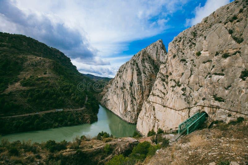 El Caminito Del Rey Rocks, Malaga royaltyfria foton
