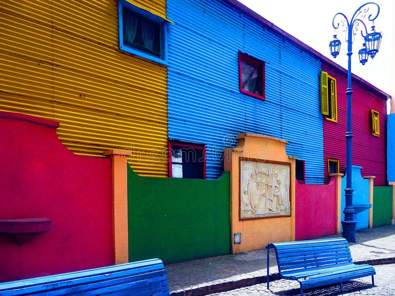 El Caminito. (little walkway or little path in Spanish) is a street museum and a traditional alley, located in La Boca, a neighborhood of Buenos Aires stock photography