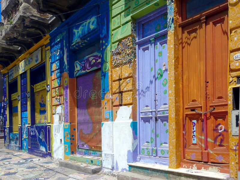 El Caminito. (little walkway or little path in Spanish) is a street museum and a traditional alley, located in La Boca, a neighborhood of Buenos Aires royalty free stock photo