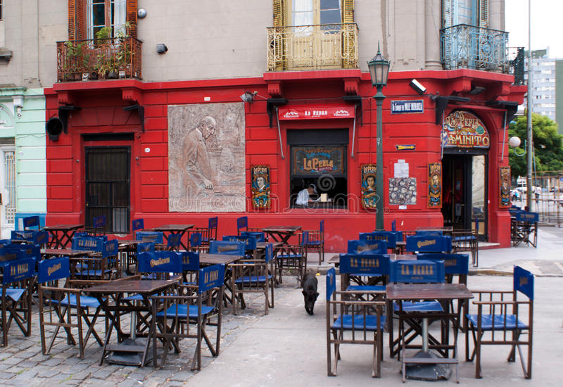 El Caminito Restaurant. A colourful restaurant in El Caminito, La Boca district, Argentina stock photos