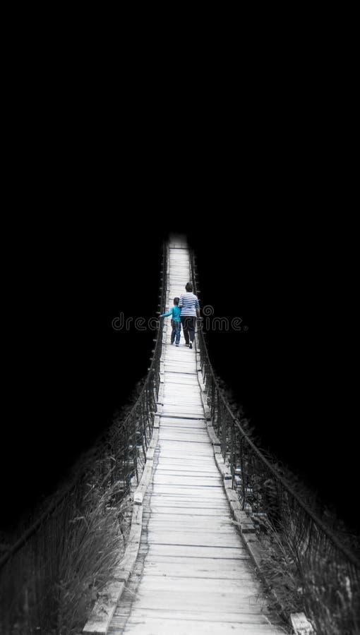 El camino al desconocido fotos de archivo