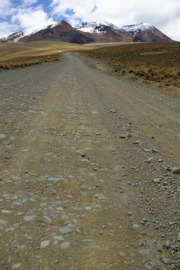 El camino a Chacaltaya, La Paz, Bolivia imágenes de archivo libres de regalías