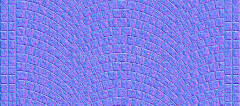 El camino curvó la textura 000 del guijarro - mapa normal stock de ilustración