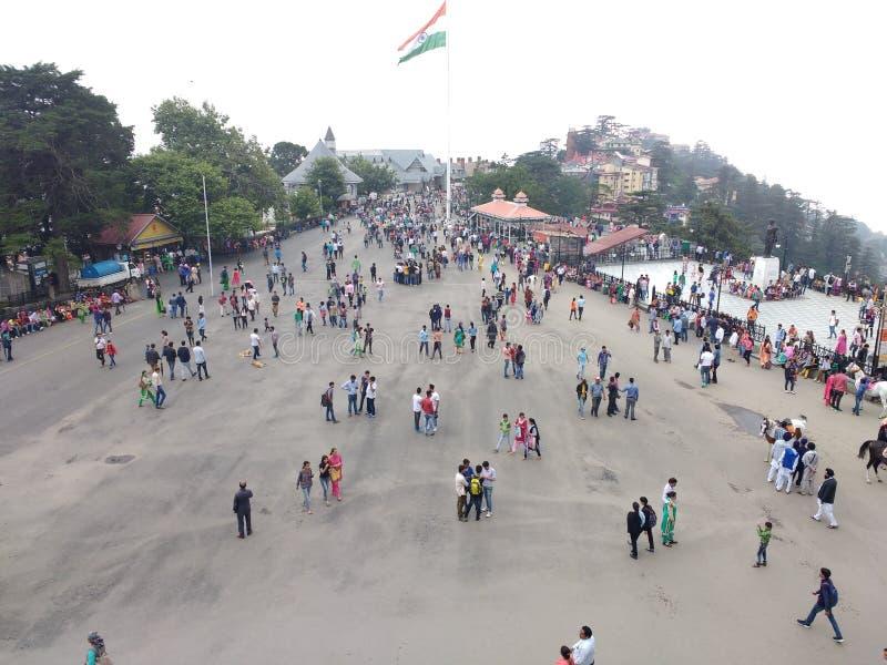 El camino de la alameda, Shimla foto de archivo libre de regalías