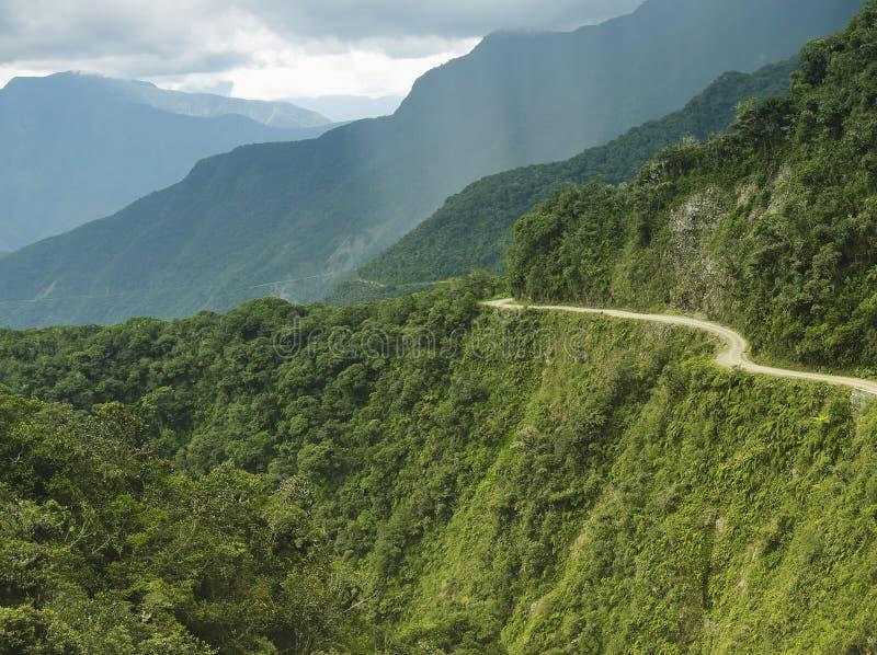 El camino de la muerte - el camino m?s peligroso del mundo, Bolivia imagen de archivo