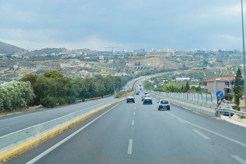 El camino de la pista en Europa foto de archivo