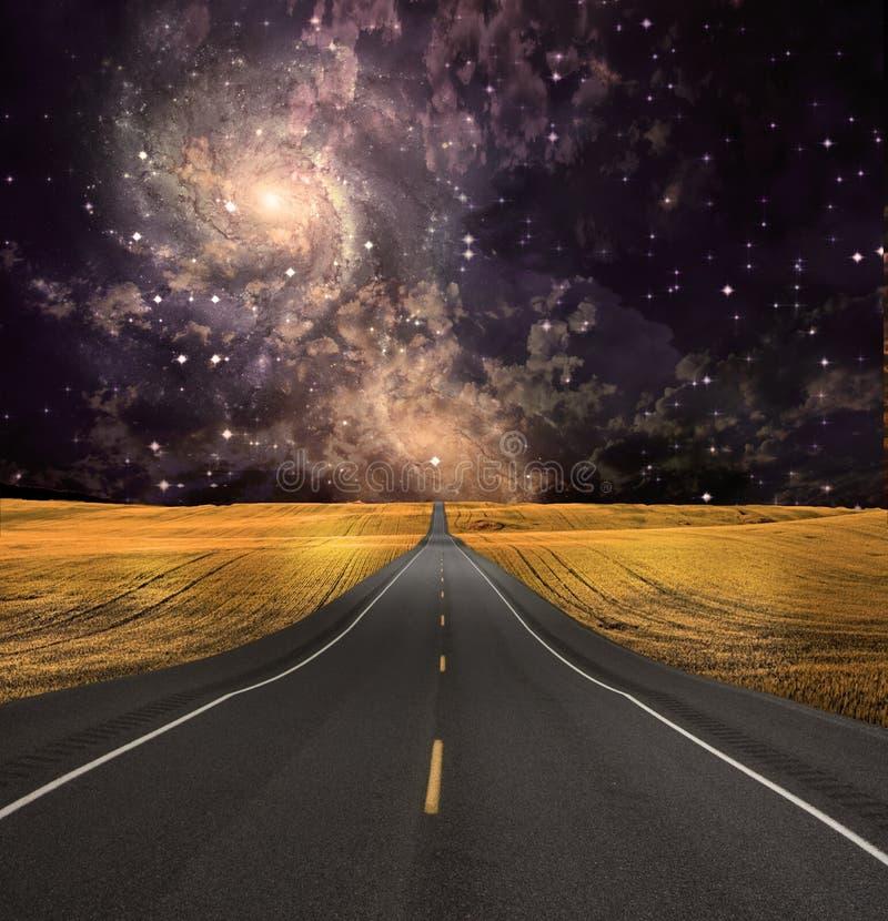 El camino desaparece en fondo libre illustration