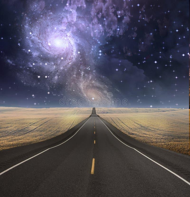 El camino desaparece en fondo ilustración del vector