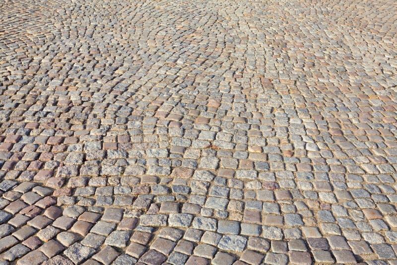 El camino histórico, cobbled - Gdansk, Polonia fotografía de archivo