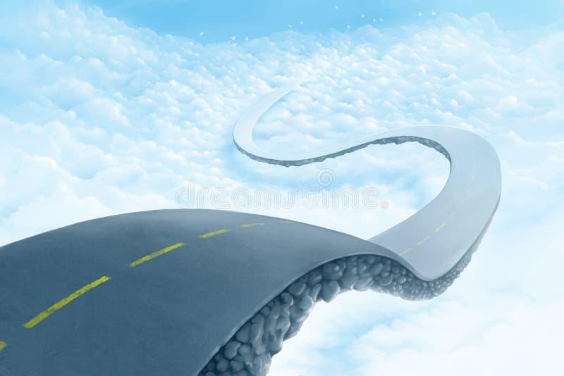 Camino sobre las nubes stock de ilustración