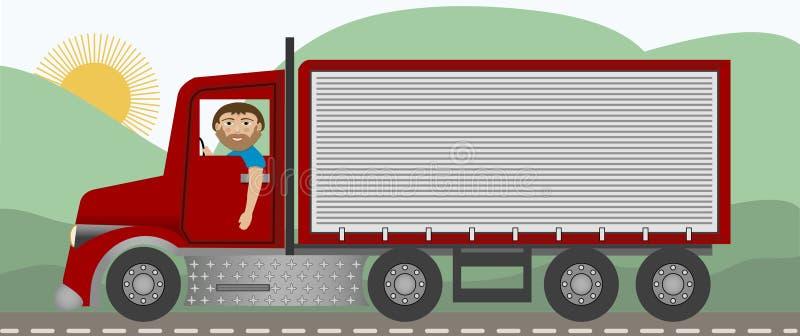 El camionero ilustración del vector