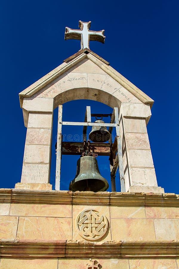 El campanario armenio, tumba de la Virgen María, Jerusalén imágenes de archivo libres de regalías