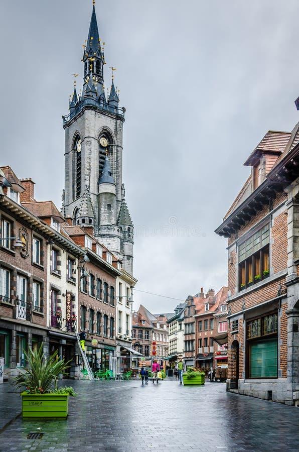 El campanario de Tournai fotos de archivo